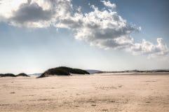 在Bazaruto海岛上的空的海滩 库存照片