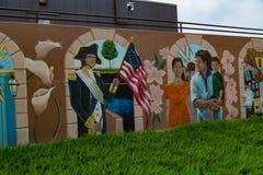 在BB&T大学的五颜六色的壁画 免版税图库摄影