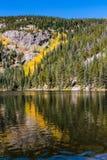 在Bear湖的秋天 库存照片