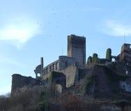 在Beilstein,德国的城堡废墟Metternich 免版税图库摄影