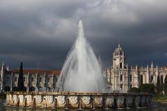 在Belém的喷泉 免版税图库摄影