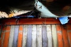 在Belakang Padang 5附近-五颜六色的墙壁 免版税库存图片