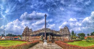 在Belavadi的Veeranarayana Hoysala寺庙 免版税图库摄影