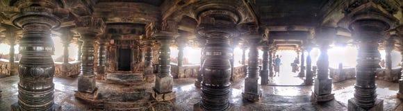在Belavadi的Veeranarayana Hoysala寺庙 免版税库存图片