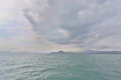 在Belcher海湾公园沿岸航行看法西部九龙 库存图片
