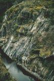 在belesar水库的瀑布 库存照片