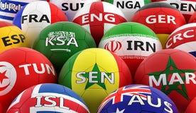 在BelgiumÂ的全国颜色的足球 免版税图库摄影