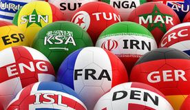 在BelgiumÂ的全国颜色的足球 免版税库存照片