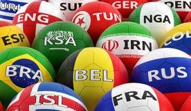 在BelgiumÂ的全国颜色的足球 库存照片