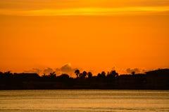 在Belleair虚张声势的日落,佛罗里达 免版税库存图片