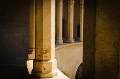 在Bellver城堡的柱子 库存图片