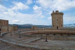 在Bellver城堡顶部 图库摄影