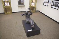 在Belz博物馆的犹太浩劫受害者雕象 免版税库存照片