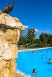 在Berekfurdo温泉匈牙利的主要游泳池 图库摄影