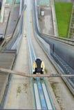 在Bergisel跳台滑雪的舷梯 免版税库存照片