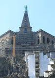 在Bergpark的赫拉克勒斯纪念碑建设中 免版税图库摄影