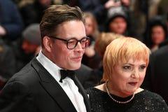 在Berlinale期间的康斯坦丁冯Notz和克劳迪亚罗思2018年 免版税图库摄影