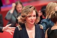 在Berlinale期间的意大利女演员薇拉莉・葛琳诺2018年 图库摄影