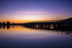 在Bermagui,新的南部,威尔士,澳大利亚的桥梁 库存图片