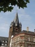 在Bernkastel德国的城堡塔 免版税库存照片