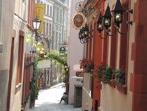 在Bernkastel德国的街道 免版税库存图片