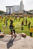 在Bersih 4的人群 0次集会在古晋 免版税库存照片