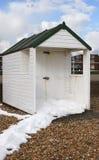 在Bexhill 0n海的海滩小屋。英国 库存图片