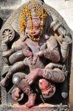 在Bhaktapur Durbar广场的印度神 免版税库存图片