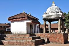在Bhaktapur Durbar广场的寺庙 免版税库存图片