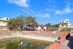 在Bhalka蒂尔塔的寺庙 库存照片