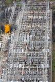 在Bhumibol水坝的发电站 免版税库存照片