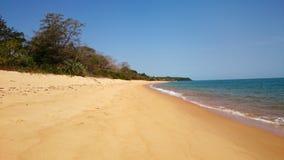 在Bijagos的空的海滩 库存照片