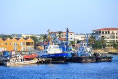 在Bionaire海岸的拖轮 库存照片