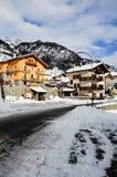 在bionaz附近的美丽的山在瓦尔d'Aosta,意大利 免版税库存图片