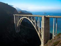 在bixby桥梁之外 免版税库存图片