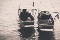 在black&white的出租汽车小船泰国 免版税库存照片