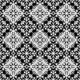 在black&white颜色的抽象无缝的样式不尽的backg的 免版税库存图片