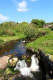 在Blackwaterfoot,阿伦岛的瀑布 库存图片
