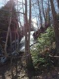 在Blue1的瀑布 库存照片