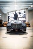 在BMW博物馆的劳斯莱斯黎明 免版税图库摄影