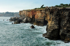 在Boca附近的海岸做地域,卡斯卡伊斯,葡萄牙 库存图片