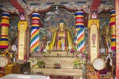 在Bodhgaya的不丹寺庙 免版税库存照片