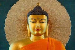 在Bodhgaya的Mahabodhi寺庙,比哈尔省,印度 免版税库存照片