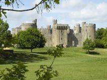 在Bodium城堡的看法 免版税库存照片