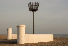 在Bognor Regis,英国的老警告烽火台 库存图片