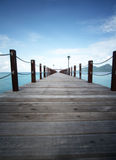 在Bohey Dulang Semporna沙巴马来西亚的跳船 免版税图库摄影