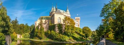 在Bojnice城堡的全景视图 库存图片