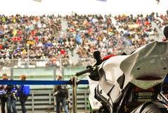 在Bol d `或24h种族的Supersport/耐力自行车 库存照片