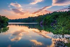 在Bolam湖国家公园的日落 免版税库存照片