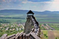 在Boldogko城堡的城楼在匈牙利 免版税库存照片